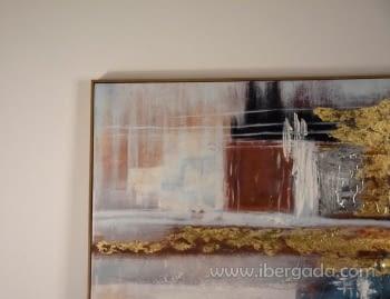 Cuadro Abstracto con Marco Madera (150x90) - 2