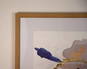 Cuadro Abstracto con Marco Madera I (60x60) - 2