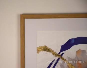 Cuadro Abstracto con Marco Madera II (60x60) - 2