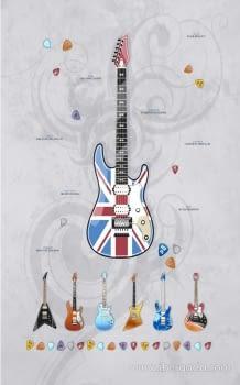 Alfombra Vinílica Guitars