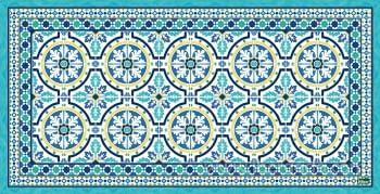 Alfombra Vinílica Chef Tanger Azul