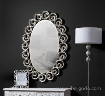 Espejo Ovalado Serpa Plata (110x78)