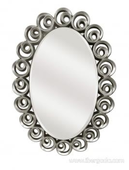 Espejo Ovalado Serpa Plata (110x78) - 1
