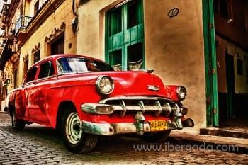 Fotografía Coche Rojo (90x60)