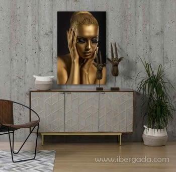 Fotografía Mujer Dorada (120x80) - 1