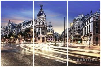 Fotografía Madrid Tríptico (180x120)