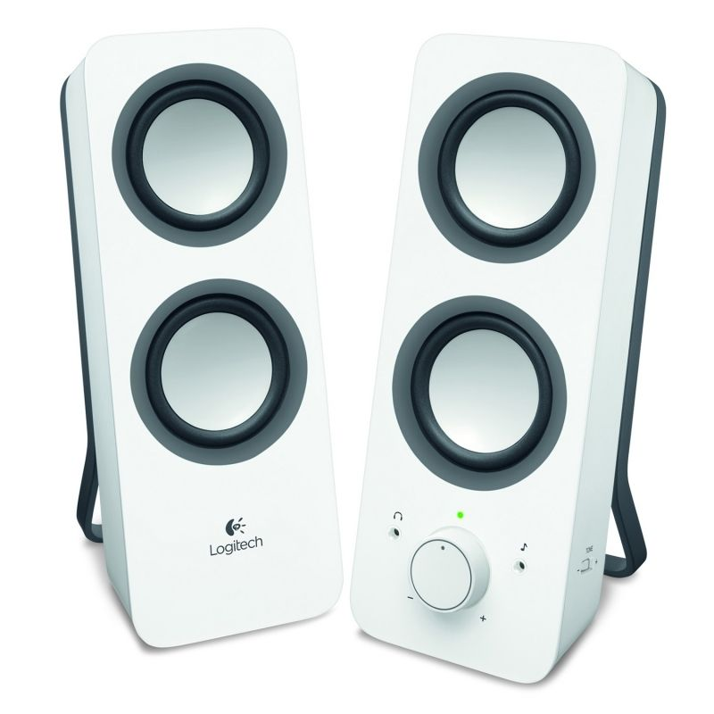 ALTAVOCES 2.0 LOGITECH Z200 10W CONTROL GRAVES 3.5MM BLANCO 980-000811 -