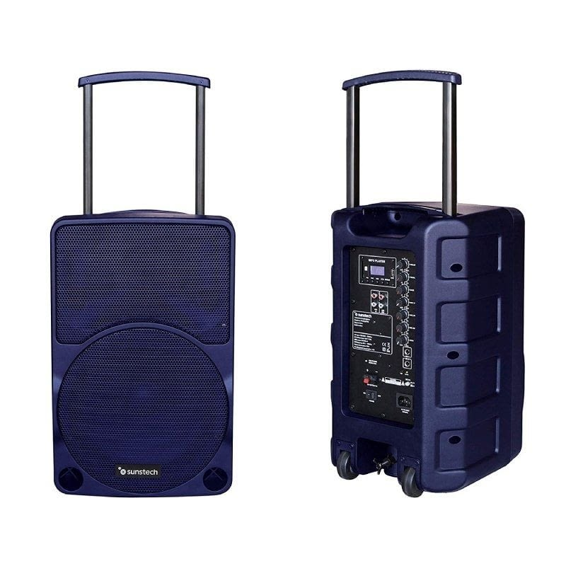 ALTAVOZ TROLLEY BLUETOOTH SUNSTECH MUSCLE PRO BLUE - 40W RMS - FM - SD/USB/AUX-IN - CONEXIÓN JACK 6.3MM - BATERÍA 12V/3A - MANDO A DISTANCIA -