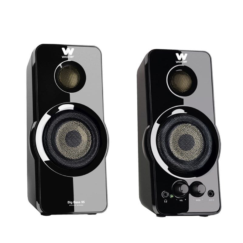 ALTAVOCES 2.0 WOXTER BIG BASS 95 NEGRO PIANO - 20W - 50-20HZ - JACK 3.5MM -