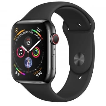 APPLE WATCH SERIES 4 GPS  CELLULAR 44mm CAJA ACERO INOXIDABLE NEGRO ESPACIAL CON CORREA DEPORTIVA NE
