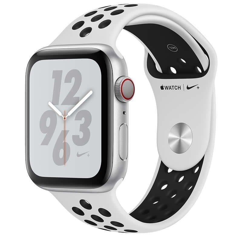 APPLE WATCH Nike SERIES 4 GPS  CELLULAR 40mm CAJA ALUMINIO PLATA CON CORREA DEPORTIVA PLATINO PURO/N -