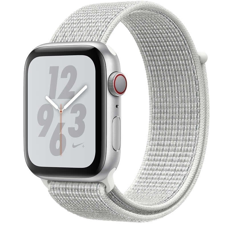 APPLE WATCH Nike SERIES 4 GPS  CELLULAR 40mm CAJA ALUMINIO PLATA CON CORREA DEPORTIVA BLANCA Nike LO -
