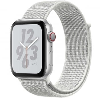 APPLE WATCH Nike SERIES 4 GPS  CELLULAR 40mm CAJA ALUMINIO PLATA CON CORREA DEPORTIVA BLANCA Nike LO