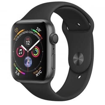 APPLE WATCH SERIES 4 GPS 40mm CAJA ALUMINIO GRIS ESPACIAL CON CORREA DEPORTIVA NEGRA - MU662TY/A