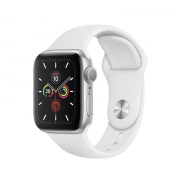 APPLE WATCH SERIES 5 GPS 40MM CAJA ALUMINIO PLATA CON CORREA BLANCA DEPORTIVA - MWV62TY/A