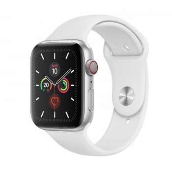 APPLE WATCH SERIES 5 GPS  CELL 44MM CAJA ALUMINIO PLATA CON CORREA BLANCA DEPORTIVA - MWWC2TY/A