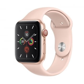 APPLE WATCH SERIES 5 GPS  CELL 44MM CAJA ALUMINIO ORO CON CORREA ROSA ARENA DEPORTIVA - MWWD2TY/A