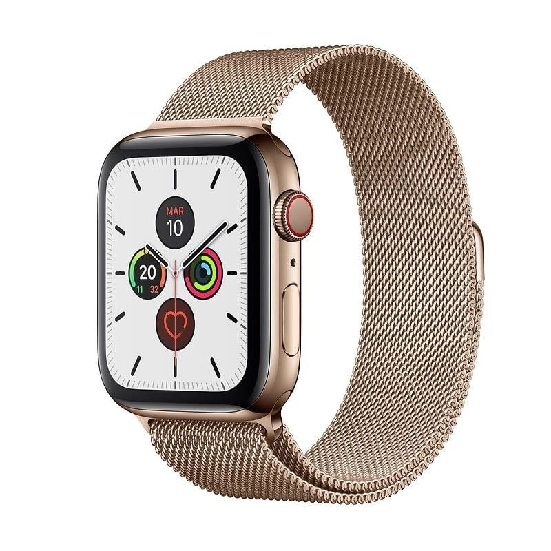 APPLE WATCH SERIES 5 GPS  CELL 44MM CAJA ACERO ORO CON CORREA ORO MILANESE LOOP - MWWJ2TY/A -
