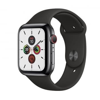 APPLE WATCH SERIES 5 GPS  CELL 44MM CAJA ACERO NEGRO ESPACIAL CON CORREA NEGRA DEPORTIVA - MWWK2TY/A