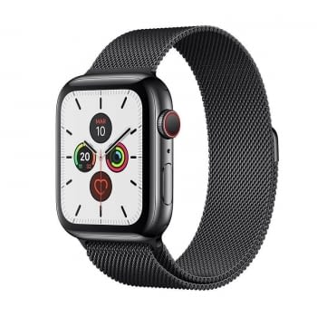 APPLE WATCH SERIES 5 GPS  CELL 44MM CAJA ACERO NEGRO ESPACIAL CON CORREA NEGRA ESPACIAL MILANESE LOO