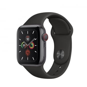 APPLE WATCH SERIES 5 GPS  CELL 40MM CAJA ALUMINIO GRIS ESPACIAL CON CORREA NEGRA DEPORTIVA - MWX32TY
