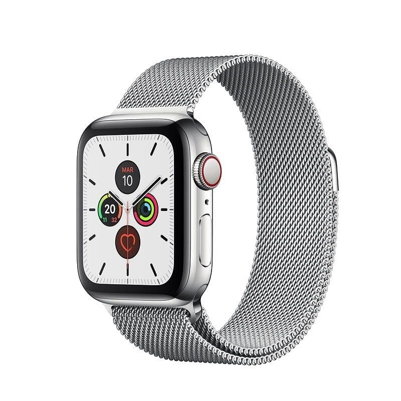 APPLE WATCH SERIES 5 GPS  CELL 40MM CAJA ACERO CON CORREA ACERO MILANESE LOOP - MWX52TY/A -