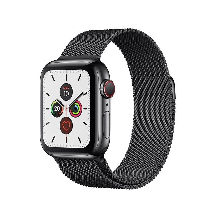 APPLE WATCH SERIES 5 GPS  CELL 40MM CAJA ACERO NEGRO ESPACIAL CON CORREA NEGRA DEPORTIVA - MWX82TY/A -