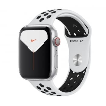 APPLE WATCH NIKE SERIES 5 GPS  CELL 44MM CAJA ALUMINIO PLATA CON CORREA PLATINO PURO/NEGRA NIKE DEPO