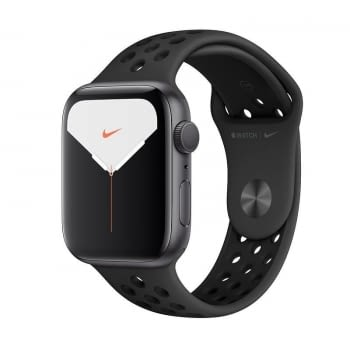 APPLE WATCH NIKE SERIES 5 GPS 44MM CAJA ALUMINIO GRIS ESPACIAL CON CORREA ANTRACITA/NEGRA NIKE DEPOR