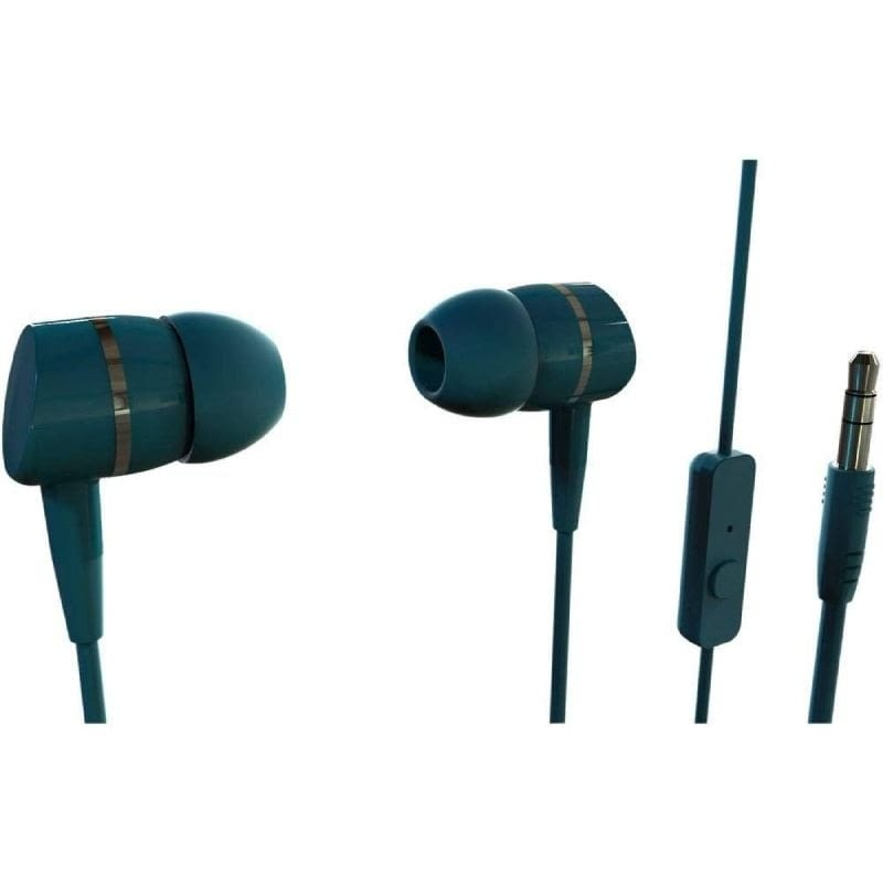 AURICULARES INTRAUDITIVOS VIVANCO 38011 VERDE - 20-20HZ - 105DB - 32OHM - CONTROL VOLUMEN - CABLE 1.2M - JACK 3.5 -