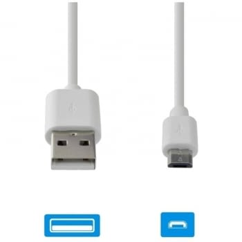 CABLE DE DATOS USB-MICROUSB GRAB'N GO GNG-123 BLANCO - 2A - 2M