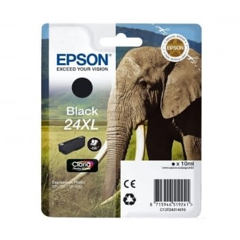 CARTUCHO  EPSON 24XL 10ML NEGRO - ELEFANTE