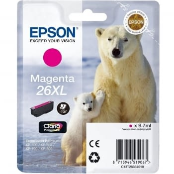 CARTUCHO  EPSON 26XL 9.7ML MAGENTA - OSO POLAR