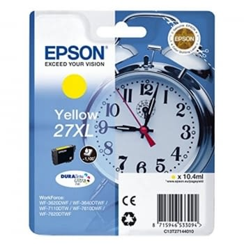 CARTUCHO AMARILLO EPSON  27XL DURABRITE - 10.4ML - DESPERTADOR