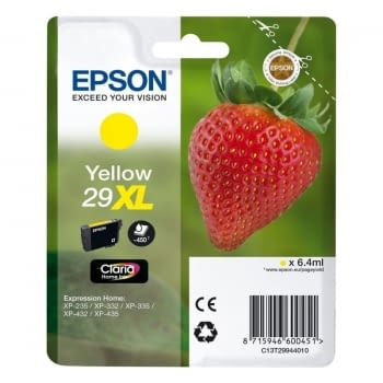 CARTUCHO AMARILLO EPSON 29XL  CLARIA HOME - 6.4ML - FRESA