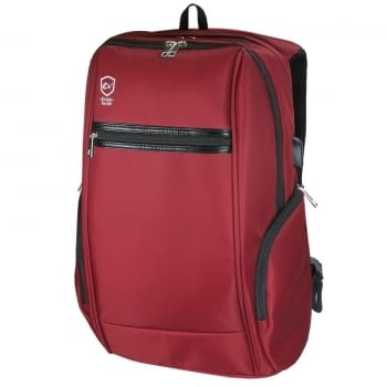 MOCHILA E-VITTA ELITE BACKPACK RED - PARA PORTÁTILES HASTA 15,4'-16'/39.11-40.64CM - CONECTOR USB PARA POWERBANK - 2 COMPARTIMENTOS - DOBLE CREMALLERA