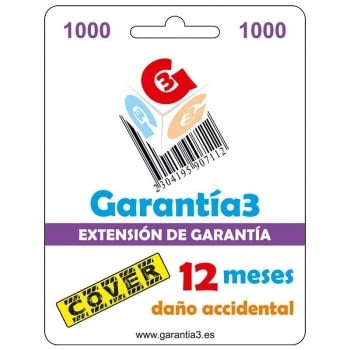 TARJETA SEGURO COVER 12 MESES PARA PRODUCTOS HASTA 1000¤ PVP DE INFORMATICA, TELEFONIA, TV, AUDIO, VIDEO, ELECTRODOMESTICOS