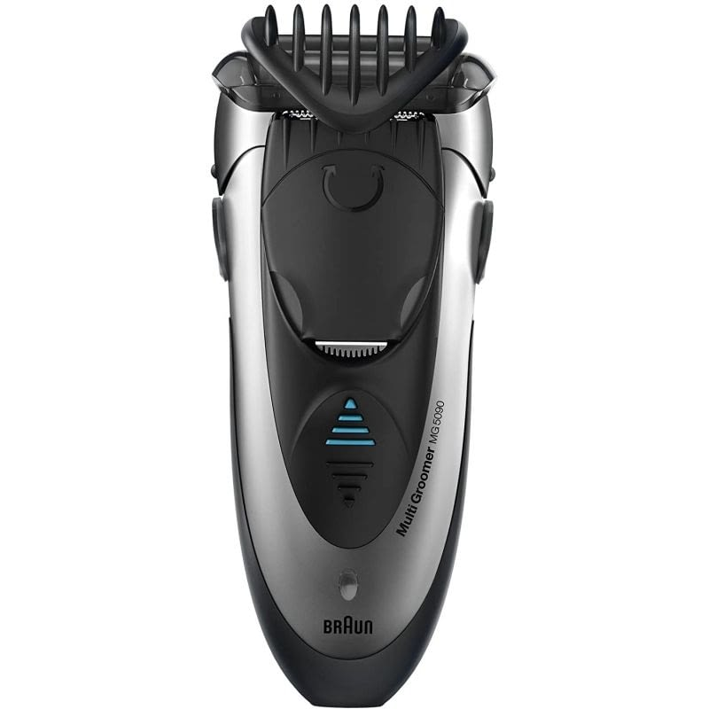 AFEITADORA MULTIFUNCION BRAUN MG5090 MULTIGROOM - 3 EN 1 (AFEITA / PERFILA / RECORTA) - PEINE AJUSTABLE 4 LONGITUDES - WET AND DRY -BATERIA RECARGABLE -