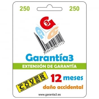 TARJETA SEGURO COVER 12 MESES PARA PRODUCTOS HASTA 250¤ PVP DE INFORMATICA, TELEFONIA, TV, AUDIO, VIDEO, ELECTRODOMESTICOS