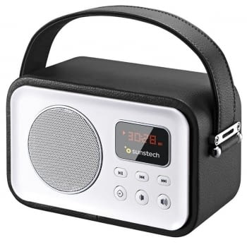 RADIO PORTÁTIL BLUETOOTH SUNSTECH RPBT450 BLACK - 2.5W RMS - FM - BT4.0 - PANTALLA LED - LECTOR TARJETAS TF/USB/AUX-IN