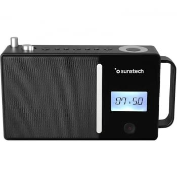 RADIO PORTÁTIL SUNSTECH RPDS500 BLACK - FM - BT 5.0 - 30 PRESINTONIAS - ALTAVOZ 4W RMS - MP3/WAV - AUX-IN/USB - BAT. 1800MAH - 4*AA NO INCLUIDAS