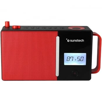 RADIO PORTÁTIL SUNSTECH RPDS500 RED - FM - BT 5.0 - 30 PRESINTONIAS - ALTAVOZ 4W RMS - MP3/WAV - AUX-IN/USB - BAT. 1800MAH - 4*AA NO INCLUIDAS