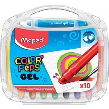 ESTUCHE 10 LÁPICES DE GEL ACUARELABLES MAPED COLOR'PEPS 836310 - BLANDOS - COLORES VIVOS