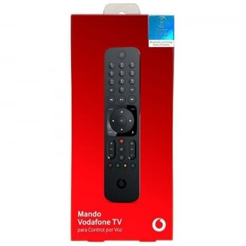 MANDO VODAFONE TV R317301A - CONTROL POR VOZ - COMPATIBLE CON DECODIFICADOR VODAFONE TV 4K - INCLUYE 2*PILAS AAA