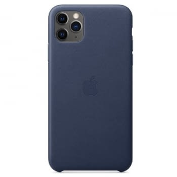 FUNDA APPLE IPHONE 11 PRO MAX LEATHER CASE - AZUL MEDIANOCHE - MX0G2ZM/A