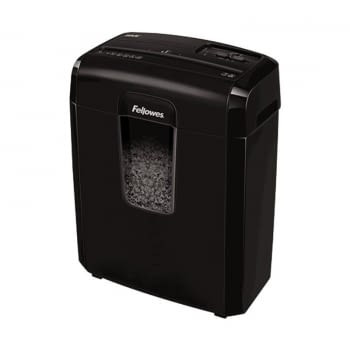 DESTRUCTORA FELLOWES 8MC - MICROCORTE 3*10MM - PAPELERA 14 LITROS - DESTRUYE  GRAPAS / TARJETAS DE CRÉDITO