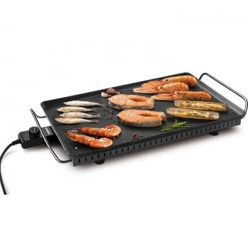 PLANCHA PARA ASAR MONDIAL TC-02 PARTY - 2500W - XXL 30*60CM - PARRILLA ALUMINIO 4MM - TERMOSTATO ALTA PRECISIÓN - COLOR NEGRO