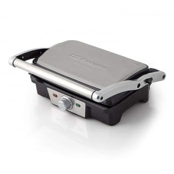 GRILL INOX ORBEGOZO GR 3800 - 1500W - APERTURA 180º CON 2 SUPERFICIES 275*165MM - PLACA CON CAPA ANTIADHERENTE - TERMOSTATO REGULABLE