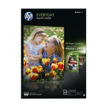 PAPEL HP FOTOGRÁFICO SATINADO EVERYDAY PHOTOPAPER - 25 HOJAS A4 - 200G/M2