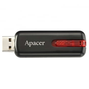 PENDRIVE APACER AH326 32GB BLACK - USB 2.0 - COMPATIBLE WINDOWS/MAC/LINUX